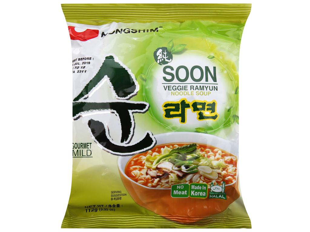 Mì chay Nongshim Soon Veggie Ramyun gói 112g 2