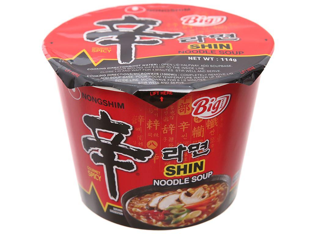 Mì cay Nongshim Shin Noodles tô 114g 2
