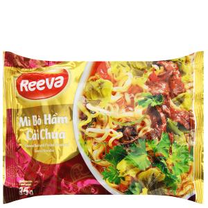 Mì Reeva bò hầm cải chua gói 85g