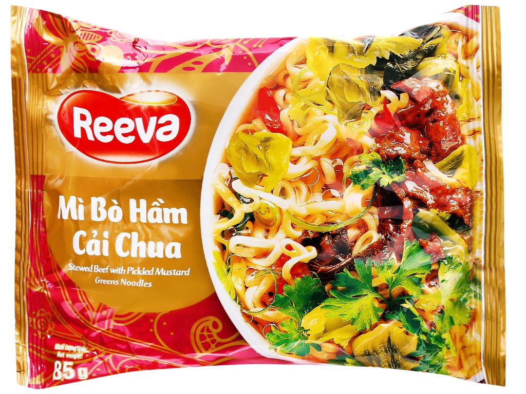 Mì Reeva bò hầm cải chua gói 85g 6