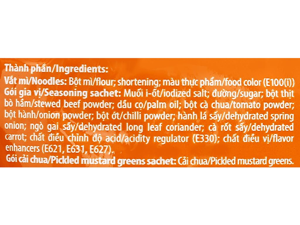 Mì Reeva bò hầm cải chua gói 85g 9