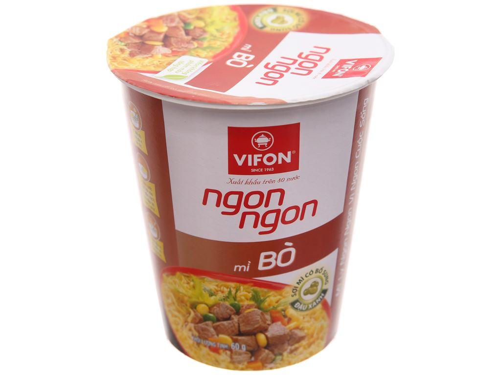 Mì bò Vifon Ngon Ngon ly 60g 1