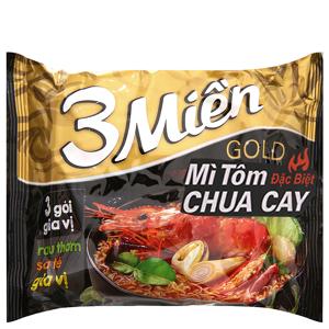 Mì 3 Miền Gold tôm chua cay đặc biệt gói 75g