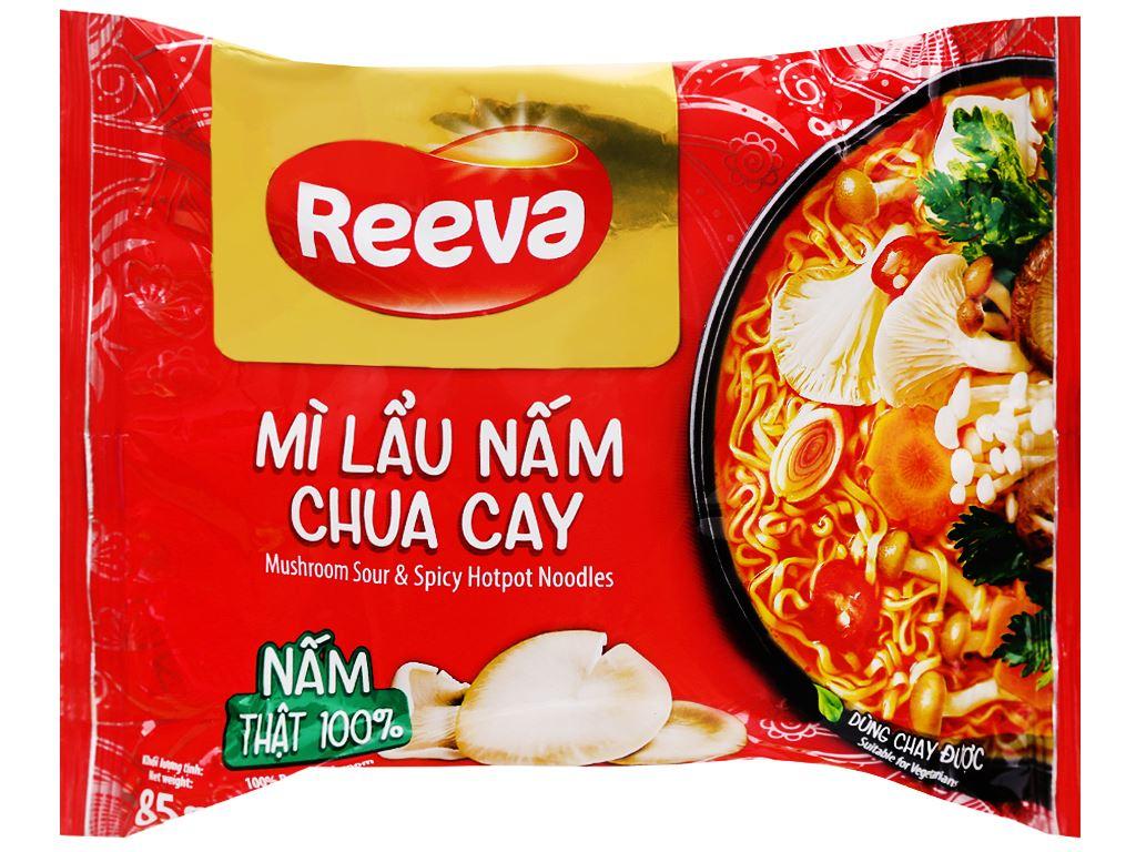 Mì Reeva lẩu nấm chua cay gói 85g 4
