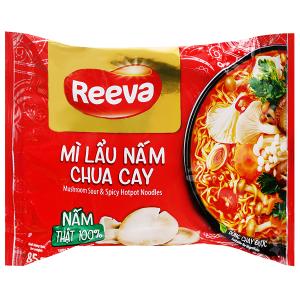 Mì Reeva lẩu nấm chua cay gói 85g