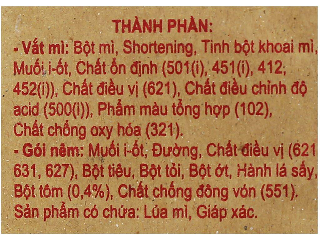 Mì Vị Hương giấy vàng gói 60g 7