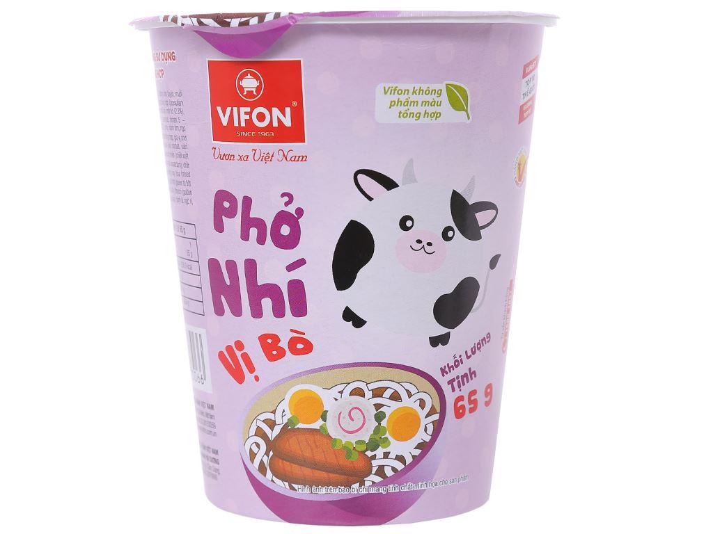 Phở Nhí vị bò Vifon ly 65g 1