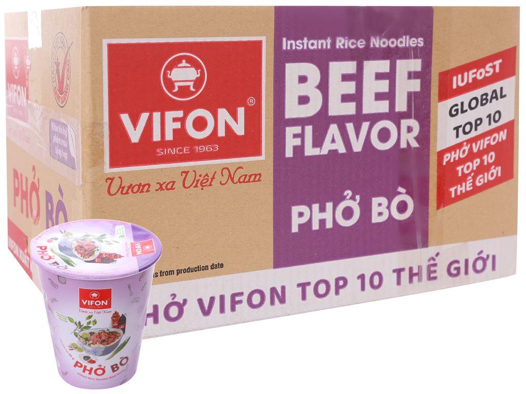 Thùng 24 ly phở bò Vifon 55g 1