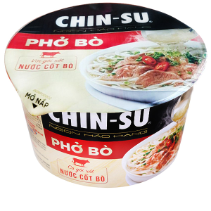 Phở bò Chinsu hộp 74g (có gói xốt nước cốt bò)