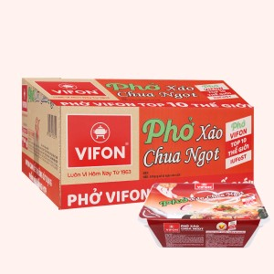 Thùng 18 khay phở xào chua ngọt Vifon 80g