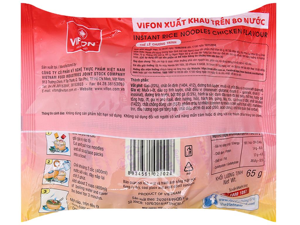 Phở gà Vifon gói 65g 4