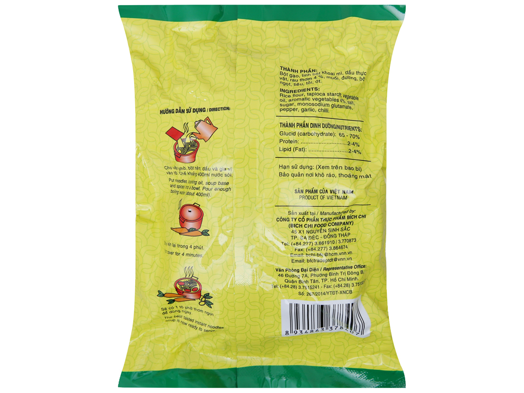 Phở chay rau thơm đặc biệt Bích Chi gói 60g 4