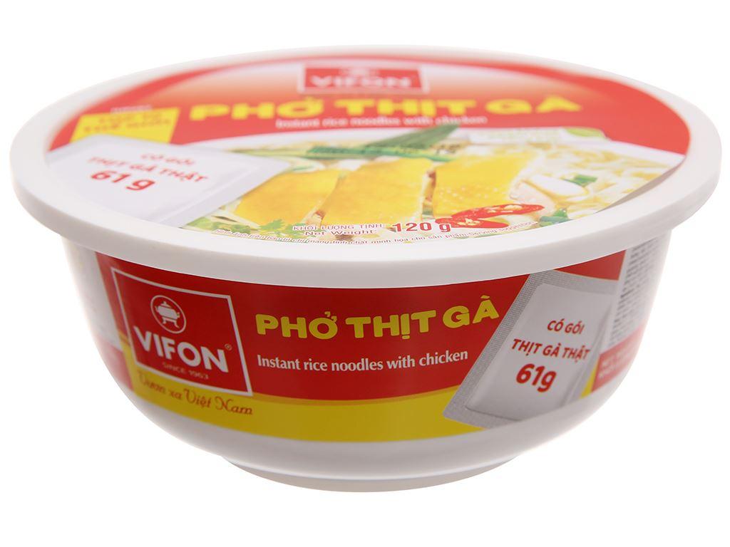 Phở thịt gà Vifon tô 120g 2