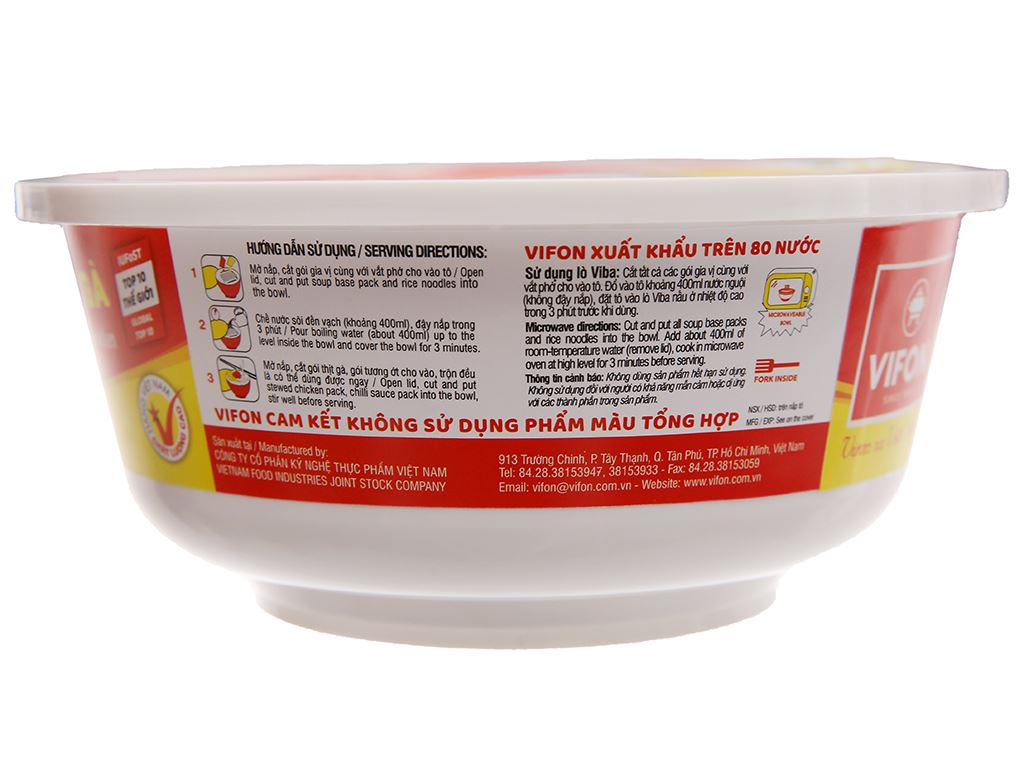 Phở thịt gà Vifon tô 120g 5