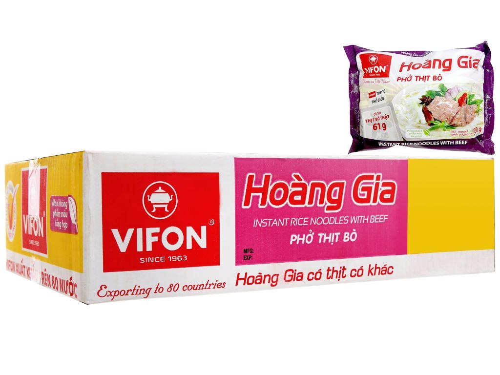 Thùng 18 gói phở thịt bò Vifon Hoàng Gia 120g 1