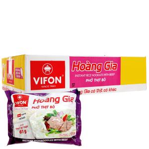 Thùng 18 gói phở thịt bò Vifon Hoàng Gia 120g
