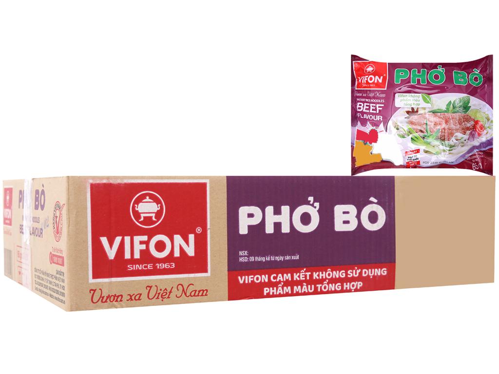 Thùng 30 gói phở vị bò Vifon 65g 2