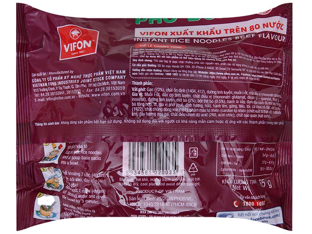 Thùng 30 gói phở vị bò Vifon 65g 5