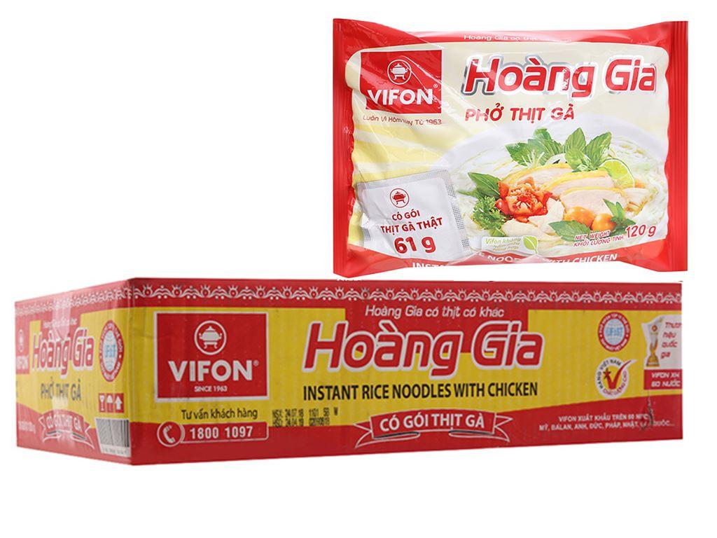 Thùng 18 gói phở thịt gà Vifon Hoàng Gia 120g 1