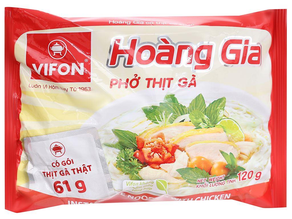 Thùng 18 gói phở thịt gà Vifon Hoàng Gia 120g 6