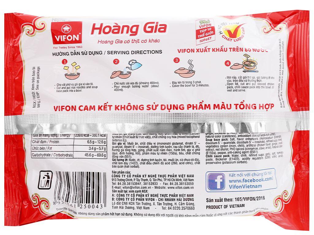 Phở thịt gà Vifon Hoàng Gia gói 120g 7