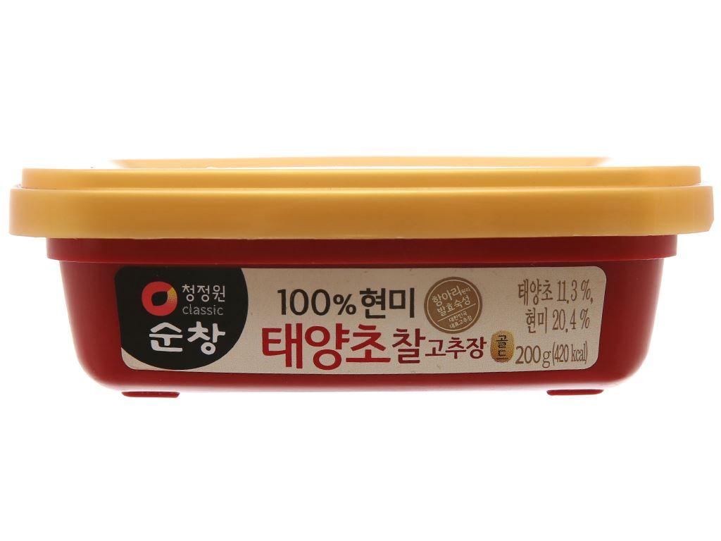 Tương ớt Hàn Quốc Chung Jung One hộp 200g 2