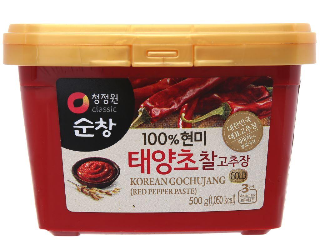 Tương ớt Hàn Quốc Chung Jung One hộp 500g 1