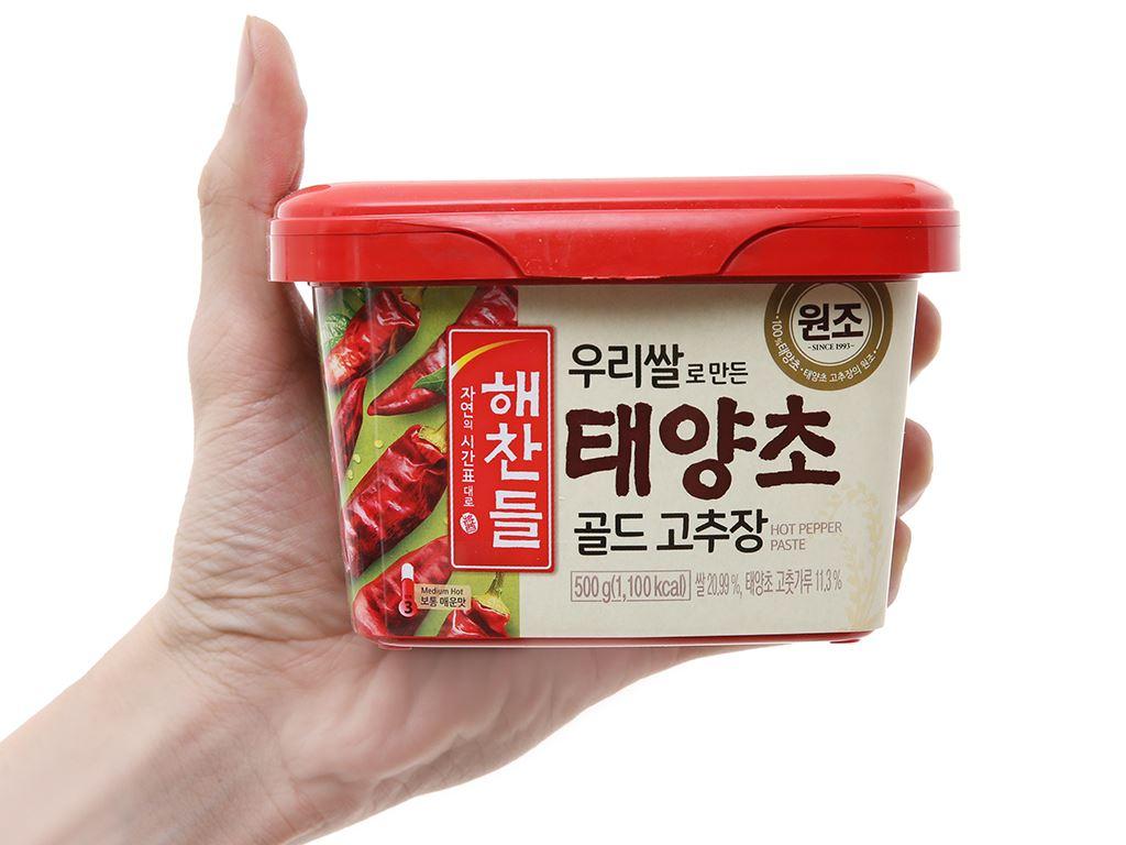 Tương ớt Hàn Quốc Haechandle hộp 500g 4