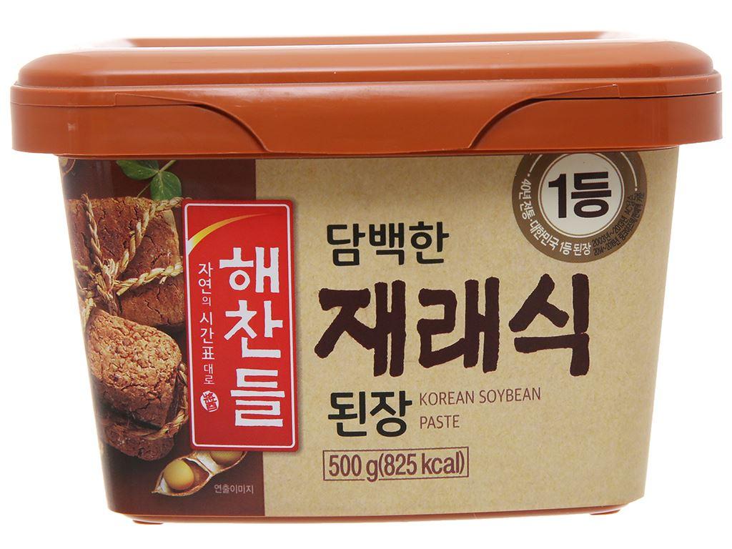 Tương đậu Hàn Quốc vị truyền thống Haechandle hộp 500g 2