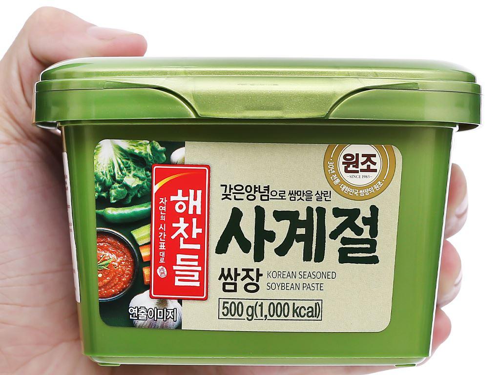 Tương trộn Hàn Quốc ăn liền Haechandle hộp 500g 4