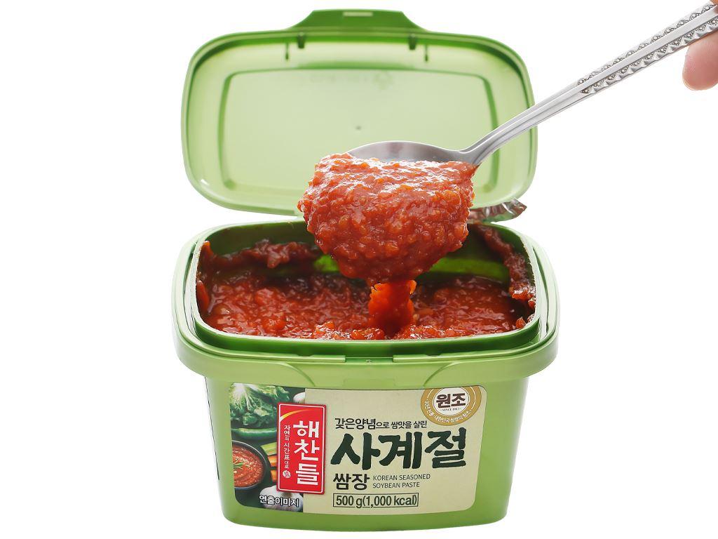 Tương trộn Hàn Quốc ăn liền Haechandle hộp 500g 5