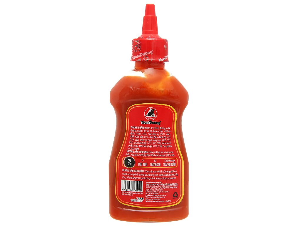 Tương ớt cay đặc biệt Nam Dương chai 250g 7