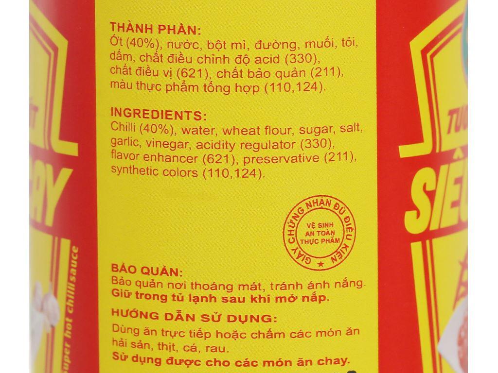 Tương ớt Tài Lộc siêu cay chai 270g 4