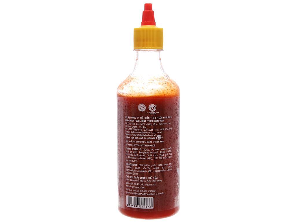 Tương ớt Sriracha Cholimex chai 520g 2