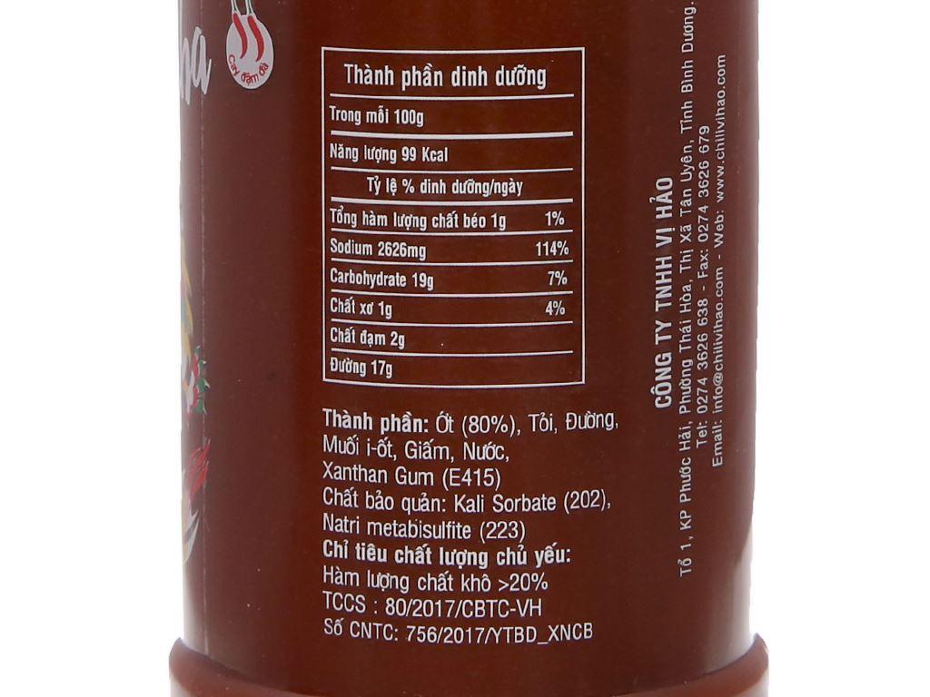 Tương ớt Sriracha Vị Hảo chai 320g 3