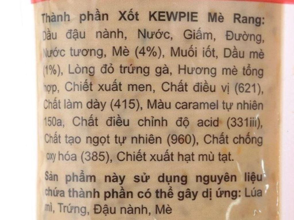 Xốt tương ớt và mè rang Kewpie gói 100g 3