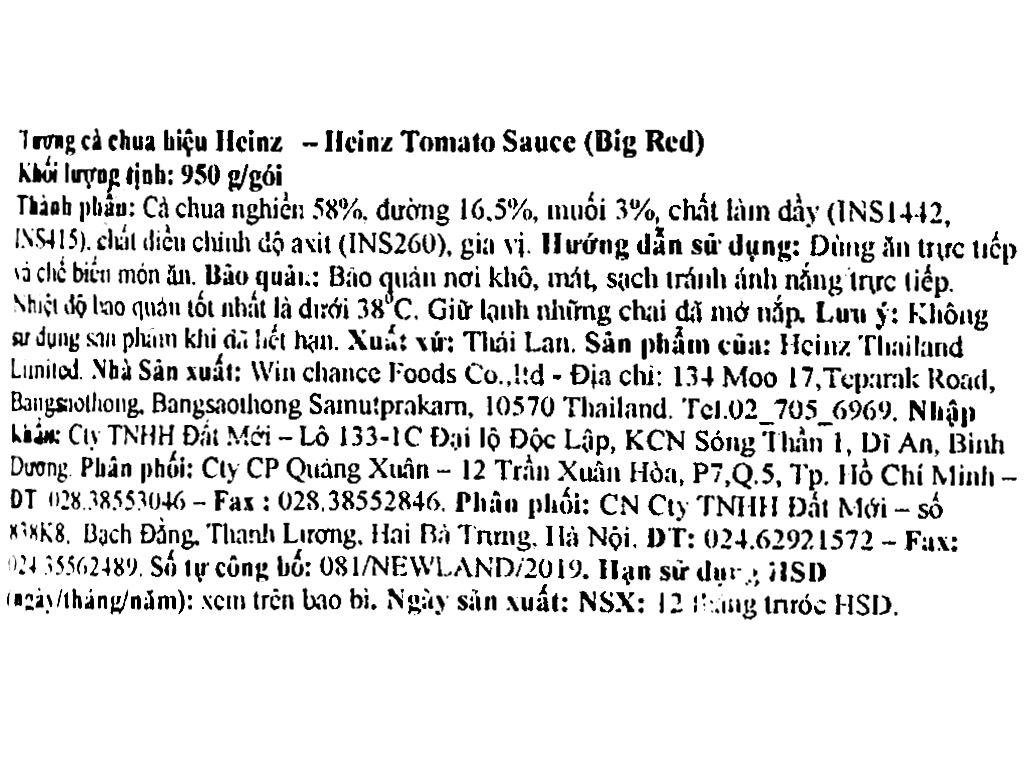 Tương cà Heinz Big Red gói 950g 4
