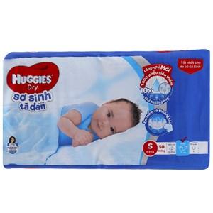 Tã dán Huggies Dry size S cho bé 4 - 8kg (50 miếng)