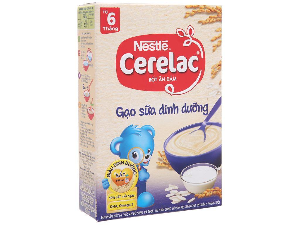 Bột ăn dặm Nestlé Cerelac gạo sữa dinh dưỡng từ 6 tháng 200g 2