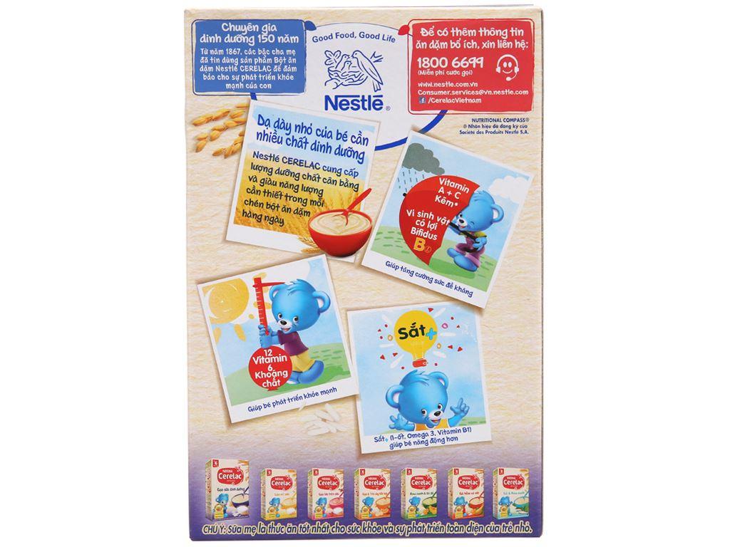 Bột ăn dặm Nestlé Cerelac gạo sữa dinh dưỡng từ 6 tháng 200g 3