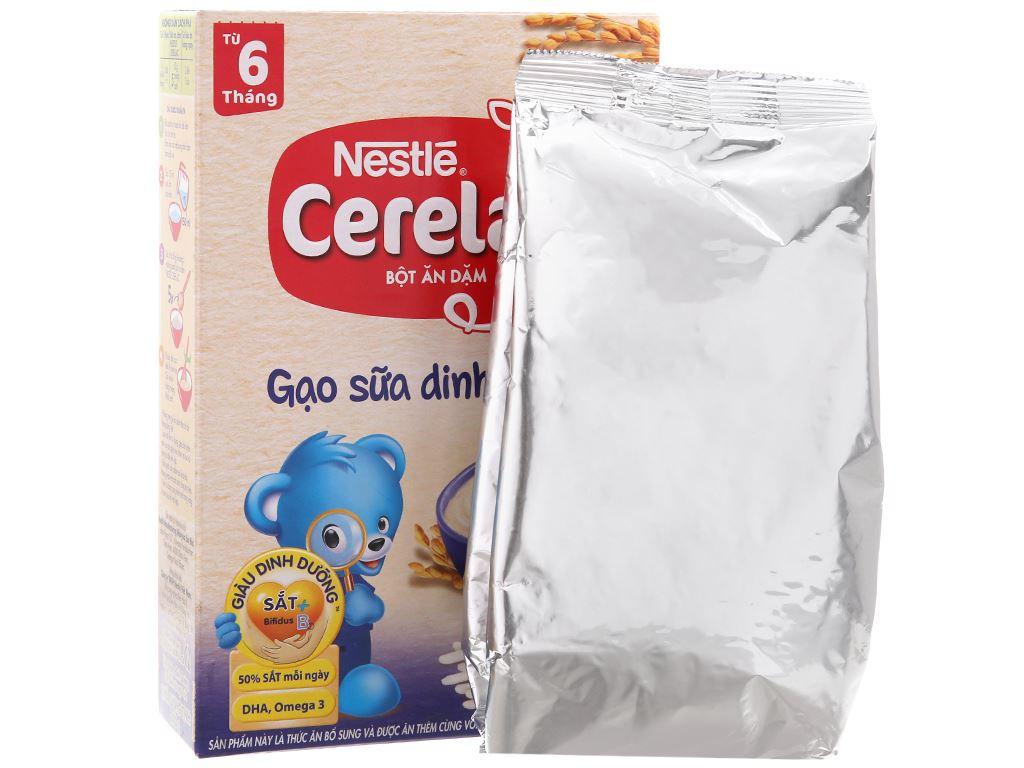 Bột ăn dặm Nestlé Cerelac gạo sữa dinh dưỡng từ 6 tháng 200g 5