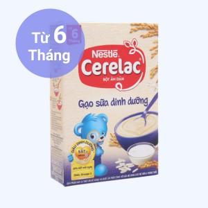 Bột ăn dặm Nestlé Cerelac gạo sữa dinh dưỡng hộp 200g (từ 6 tháng)