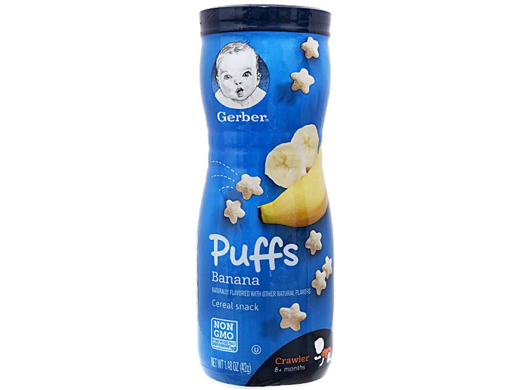 Bánh ăn dặm Gerber Puffs chuối hộp 42g (từ 8 tháng) 1