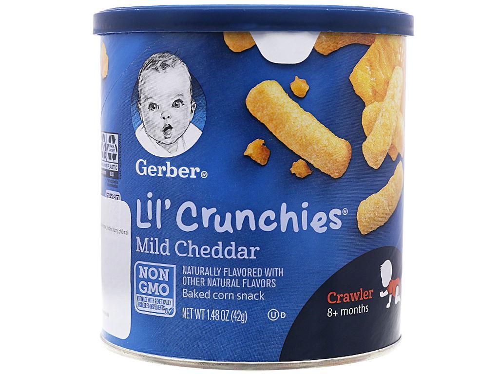 Bánh ăn dặm Gerber Lil'Crunchies phô mai hộp 42g (từ 8 tháng) 1