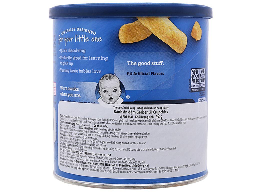 Bánh ăn dặm Gerber Lil'Crunchies phô mai hộp 42g (từ 8 tháng) 2