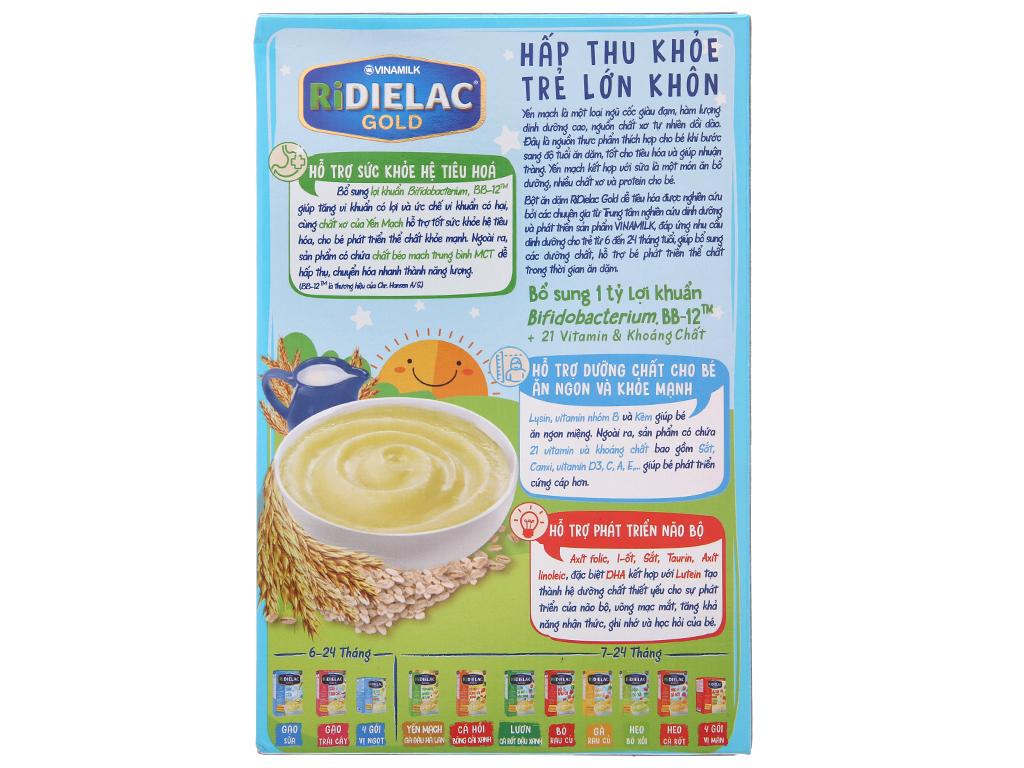 Bột ăn dặm Ridielac Gold yến mạch sữa 6 - 24 tháng 200g 3