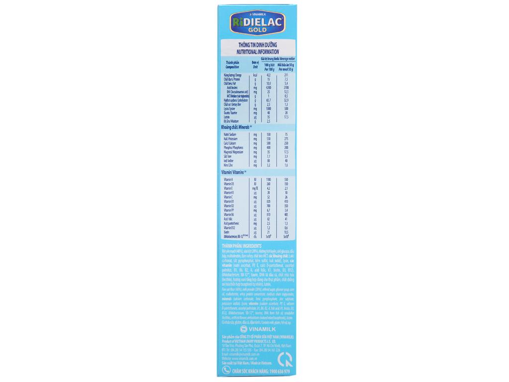 Bột ăn dặm Ridielac Gold yến mạch sữa 6 - 24 tháng 200g 4