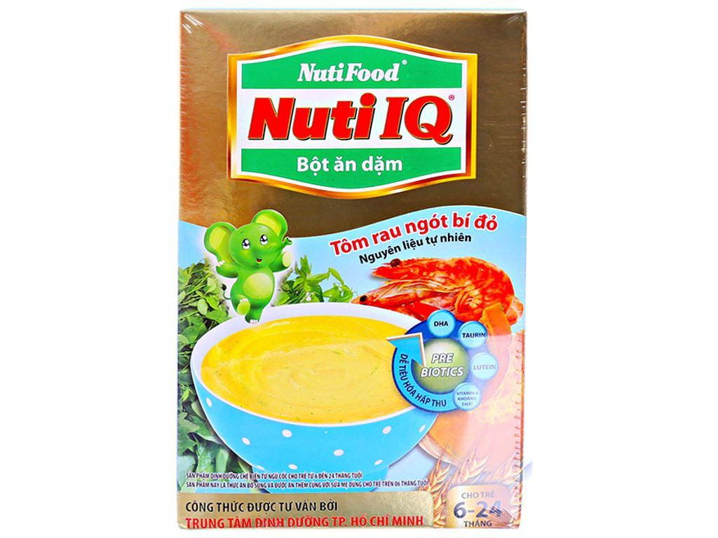 Bột ăn dặm NutiFood Nuti IQ rau ngót bí đỏ 6 - 24 tháng 200g 1