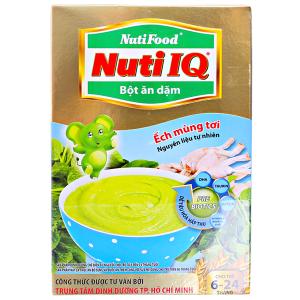 Bột ăn dặm NutiFood Nuti IQ ếch mùng tơi 6 - 24 tháng 200g