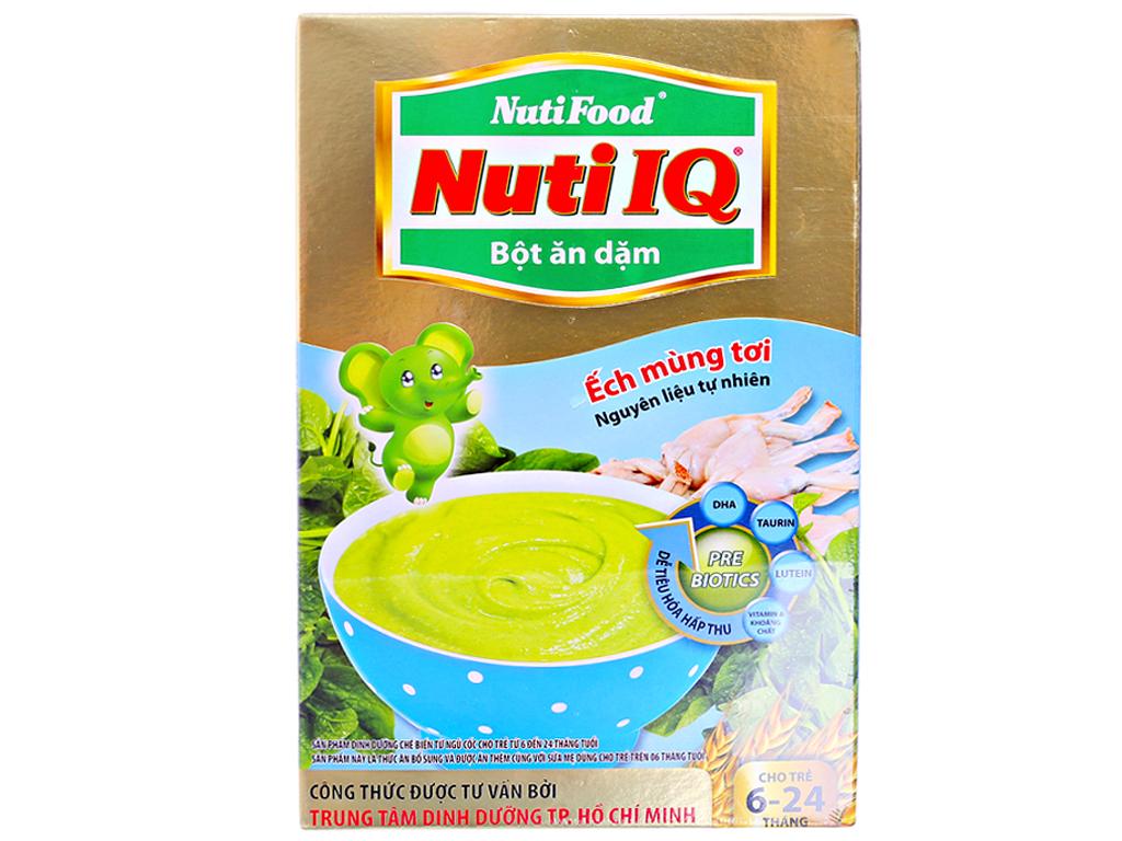 Bột ăn dặm NutiFood Nuti IQ ếch mùng tơi 6 - 24 tháng 200g 1